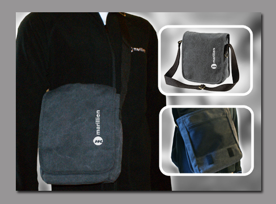 M Logo Messenger Bag