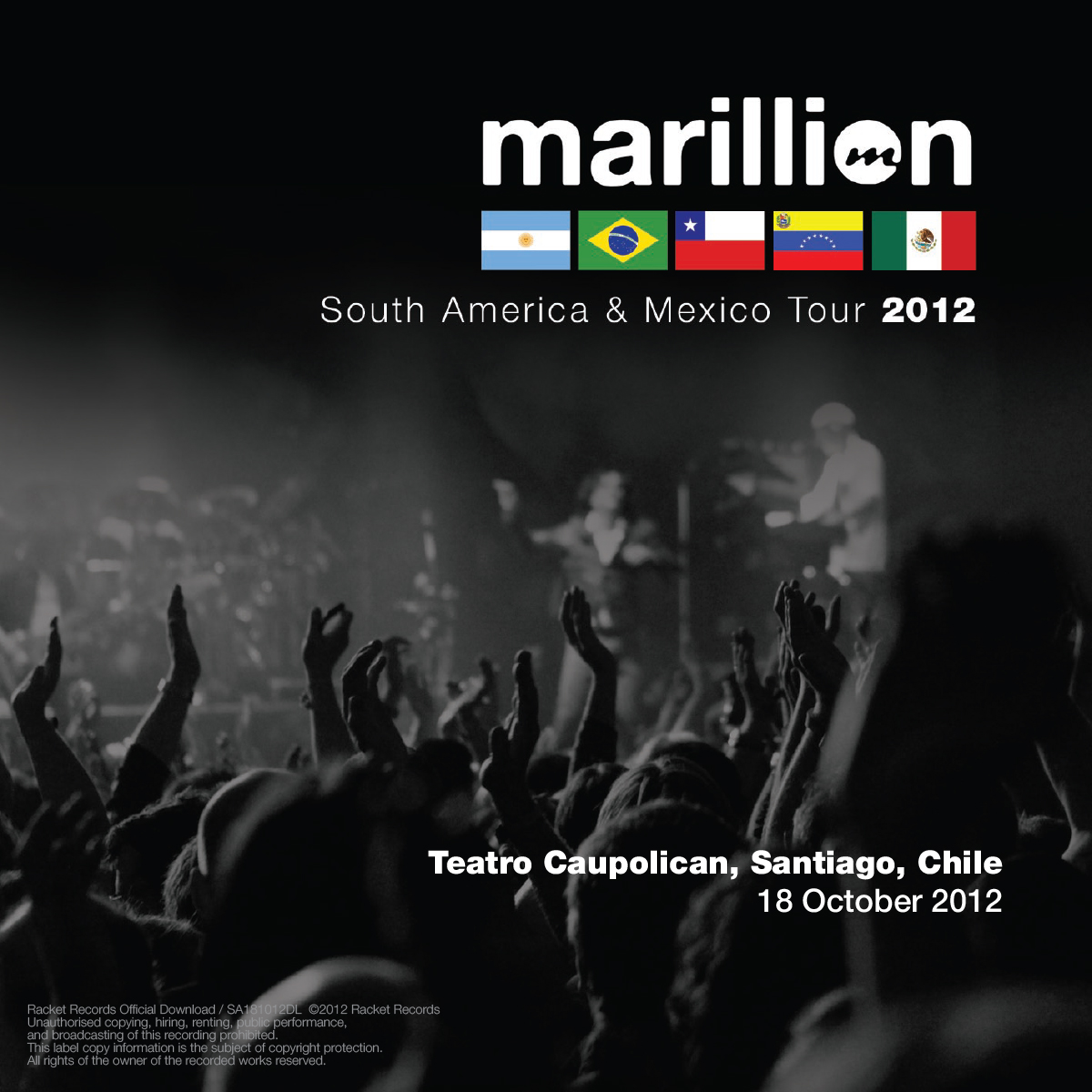 SOUTH AMERICAN TOUR 2012 CAUPOLICAN, SANTIAGO
