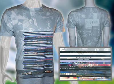 VINYL ALL OVER PRINT T-SHIRT (LARGE)