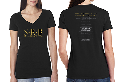 STEVE ROTHERY BAND LADIES 2018 TOUR TSHIRT