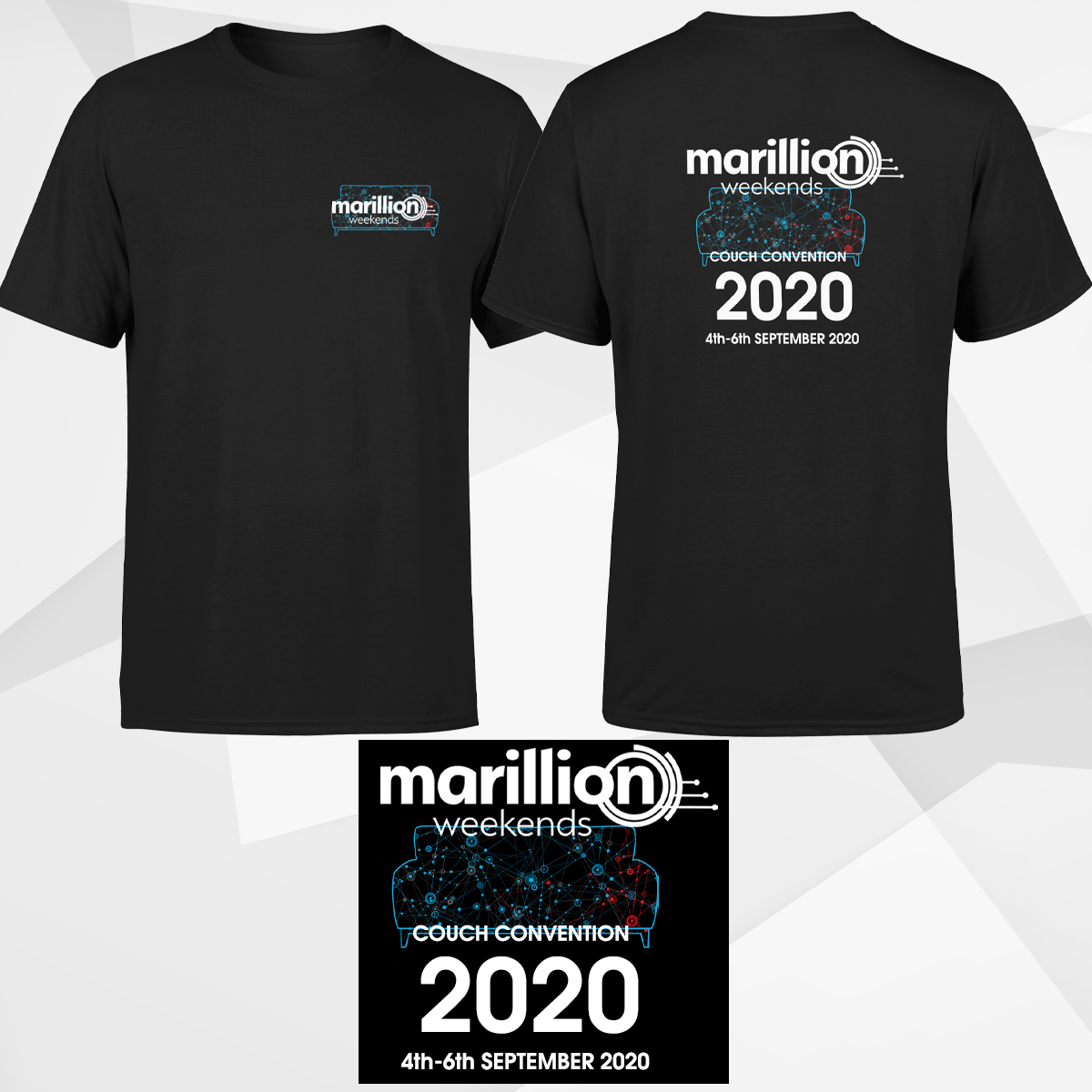 MEN'S COUCH CONVENTION 2020 BLACK T-SHIRT